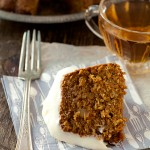 Recipe: Gingery Carrot Tea Cake with Lemon Cream Cheese Frosting