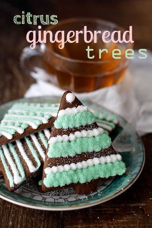 Citrus Gingerbread Trees