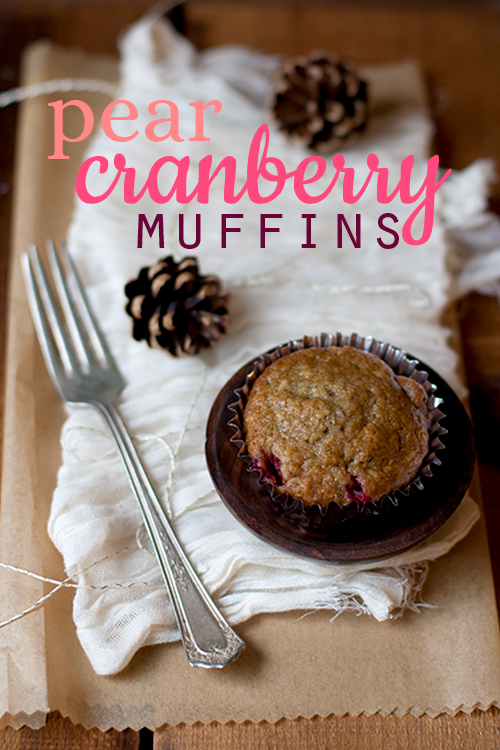 Pear Cranberry Muffins