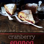 Cranberry Eggnog Coffee Cake