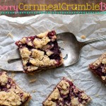 Raspberry Cornmeal Crumble Bars