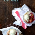 Brown Butter Rhubarb Crumble