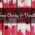 Sour Cherry & Vanilla Frozen Yogurt Pops