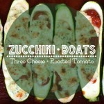 Zucchini Boats – 3 Cheese and Roasted Tomato