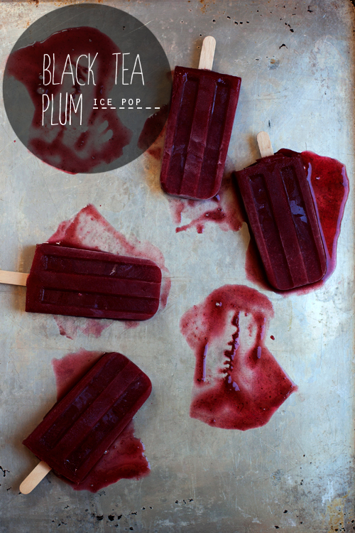 Black Tea Plum Ice Pops