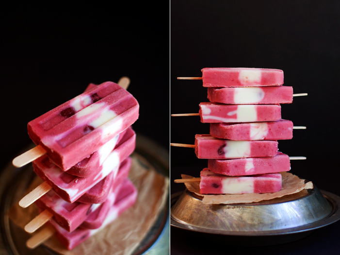 Sour Cherry & Vanilla Frozen Yogurt Pops | hungrygirlporvida.com