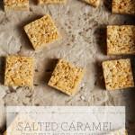 Salted Caramel Crispy Rice Squares
