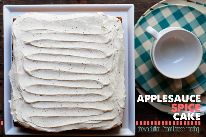 Applesauce Spice Cake with Brown Butter-Cream Cheese Frosting