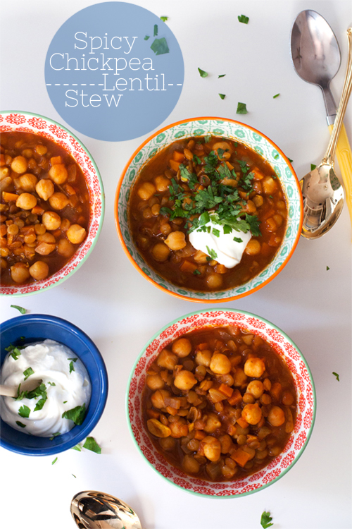 Spicy Chickpea + Lentil Stew
