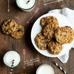 Oatmeal Cherry Cookies w/ Chocolate  Chips + Walnuts