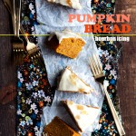 Pumpkin Bread with Bourbon Icing