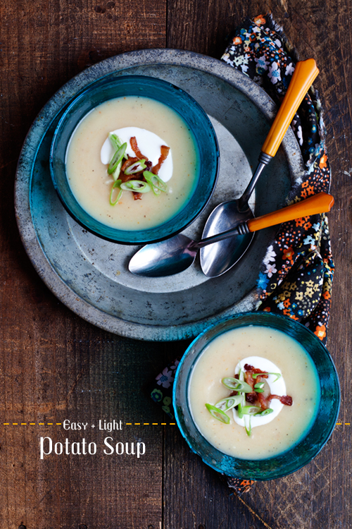 Easy + Light Potato Soup