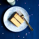 Orange Cake with Chocolate Sour Cream Frosting