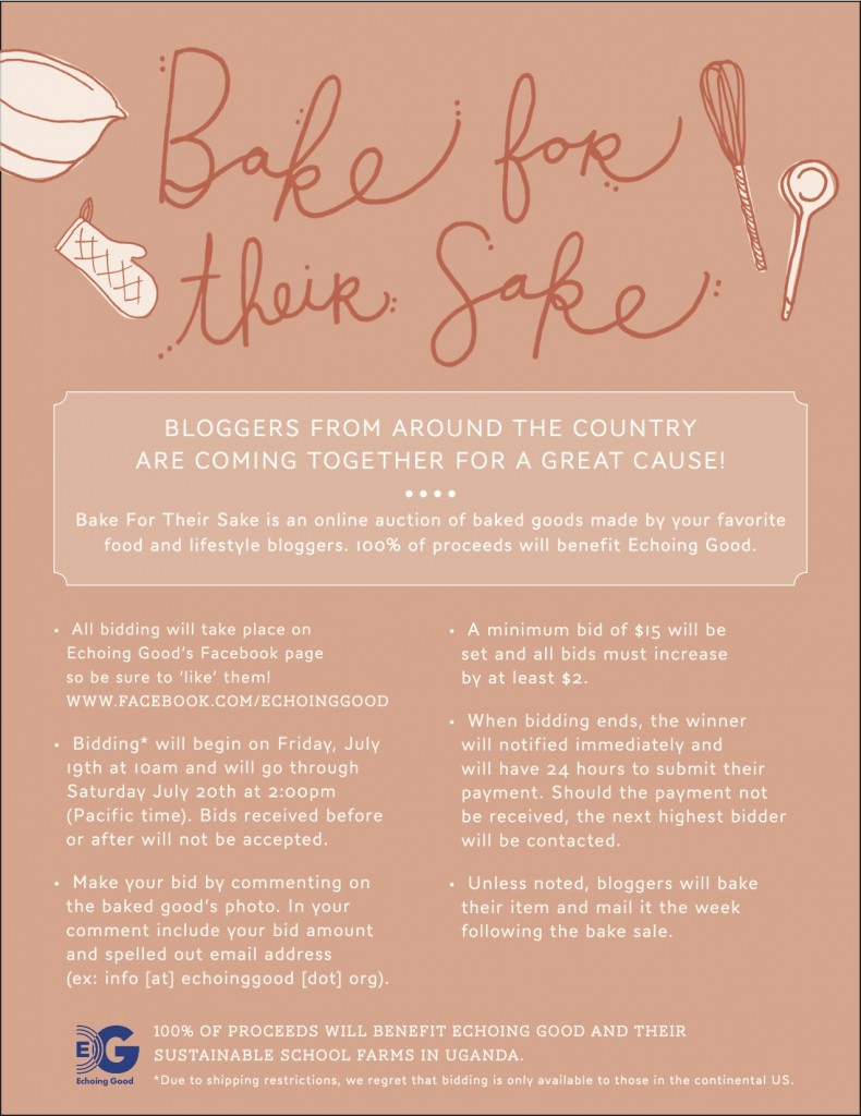 Bake for Their Sake: Echoing Good Bake Sale