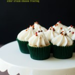 Mini Hard Cider Cupcakes