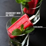 Cranberry Mint + Bourbon Ice Pops