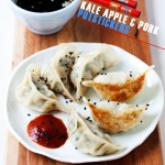 Kale, Apple, & Pork Potstickers