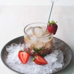 Strawberry Mint Bourbon Smash