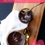 Whiskey Brown-Butterscotch Pudding with Ganache + Sea Salt