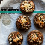 Sausage, Spinach, + Sundried Tomato Stuffed Mushrooms