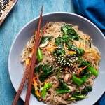 Jap Chae – Korean Glass Noodles with Vegetables