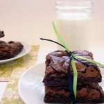 mint double chocolate brownies
