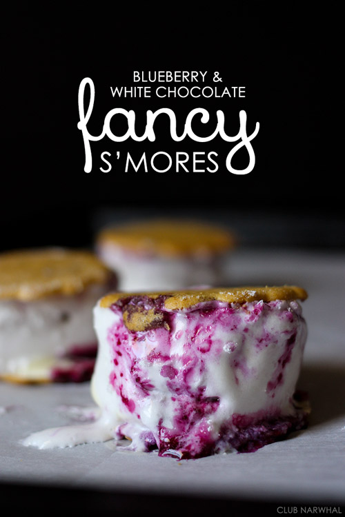 Blueberry & White Chocolate Fancy S'mores