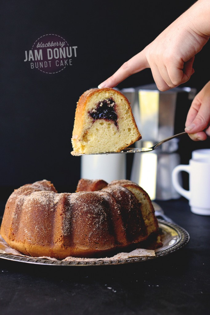 Blackberry Jam Donut Bundt Cake