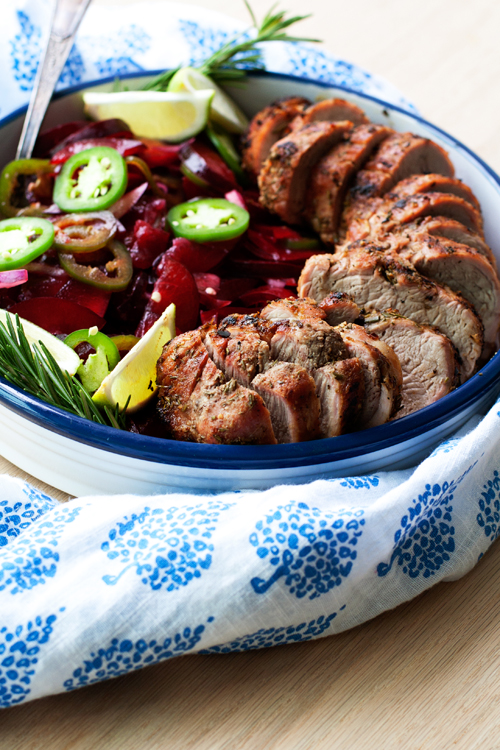 Grilled Pork Tenderloin with Jalapeño Fruit Relish