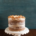 Hazelnut Crunch Pumpkin Cake with Brown Butter Cream Cheese Frosting