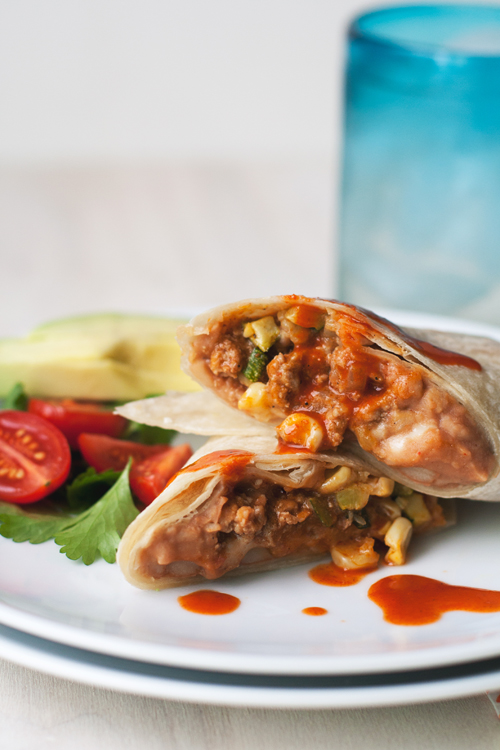 Turkey and Bean Freezer Burritos