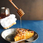 Pumpkin, Leek, & Pecan Cornbread with Spicy Honey