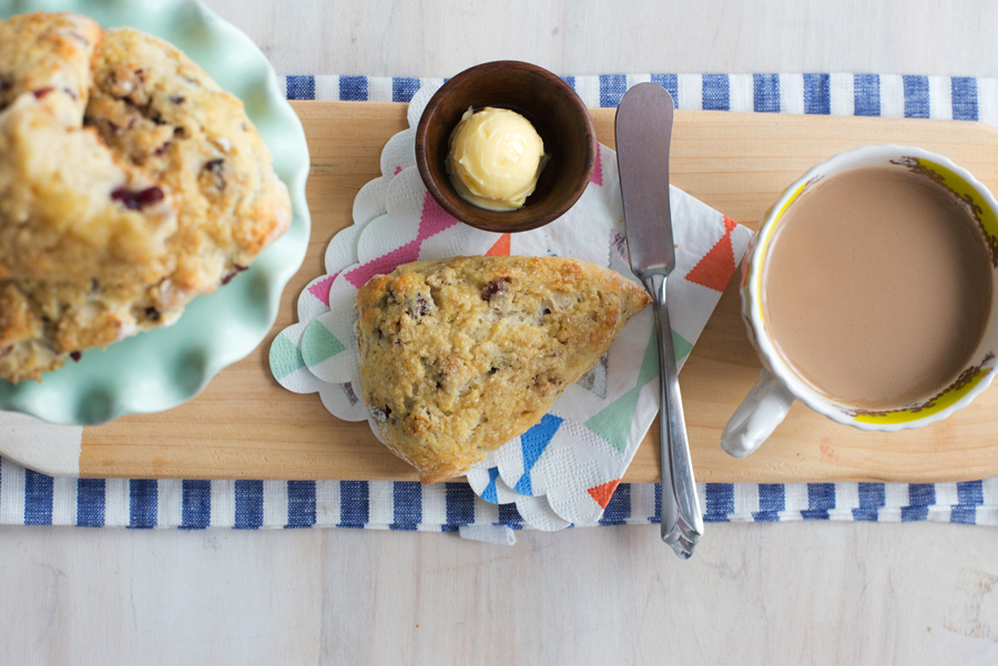 Recently at Betty's: Freeze & Bake Cranberry-Walnut Greek Yogurt Scones