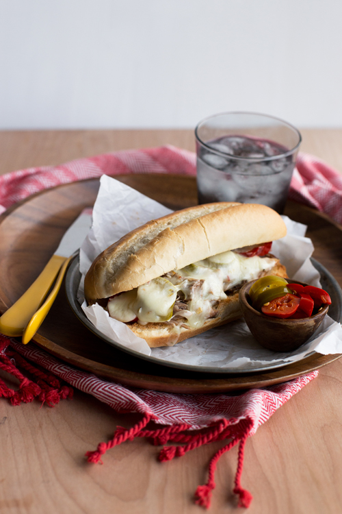 Pickle Pepper Pork Melts