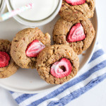 Peanut Butter and Strawberry Cookies