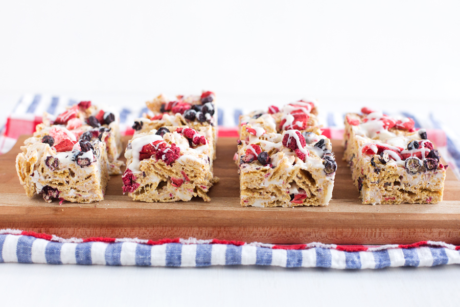 Red, White, and Blueberry Chex Treats