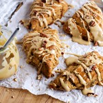 Molasses Scones with Candied Ginger and Pecans