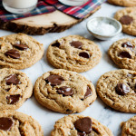 Salted Almond Butter Chocolate Chip Cookies