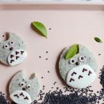 Totoro Black Sesame Shortbread