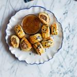Apricot-Mustard Sausage Rolls