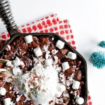 Candy Cane Marshmallow Skillet Brownie