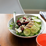 Chicken, Beet, & Arugula Salad with Honey-Shallot Vinaigrette