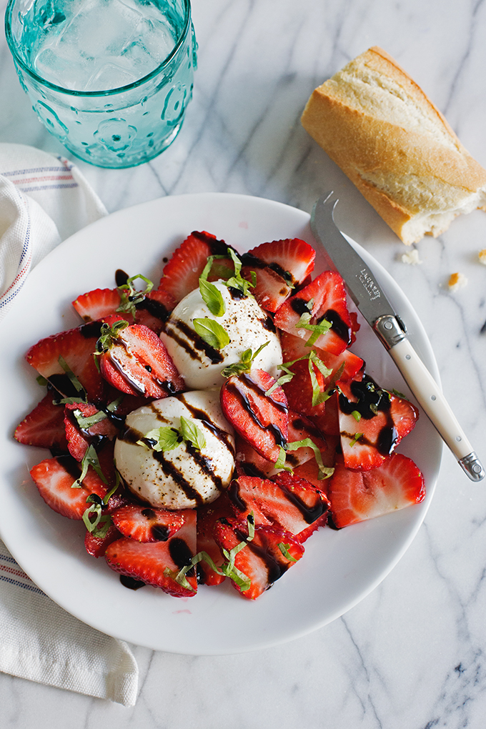Strawberries and Burrata