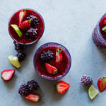 "Vanilla Berry Pinot Noir Slushies | Say ""hello"" to the adult slush! Bright berries, fragrant vanilla bean, and lush pinot noir in a boozy, icy, slush."