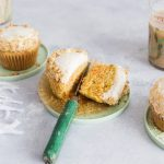 Carrot Cupcakes with Cardamom and Crème Fraîche Frosting