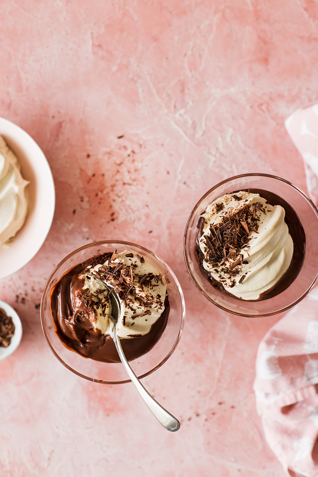 Chocolate Pudding with Espresso Whipped Cream