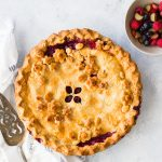 Two Berry Rhubarb Pie