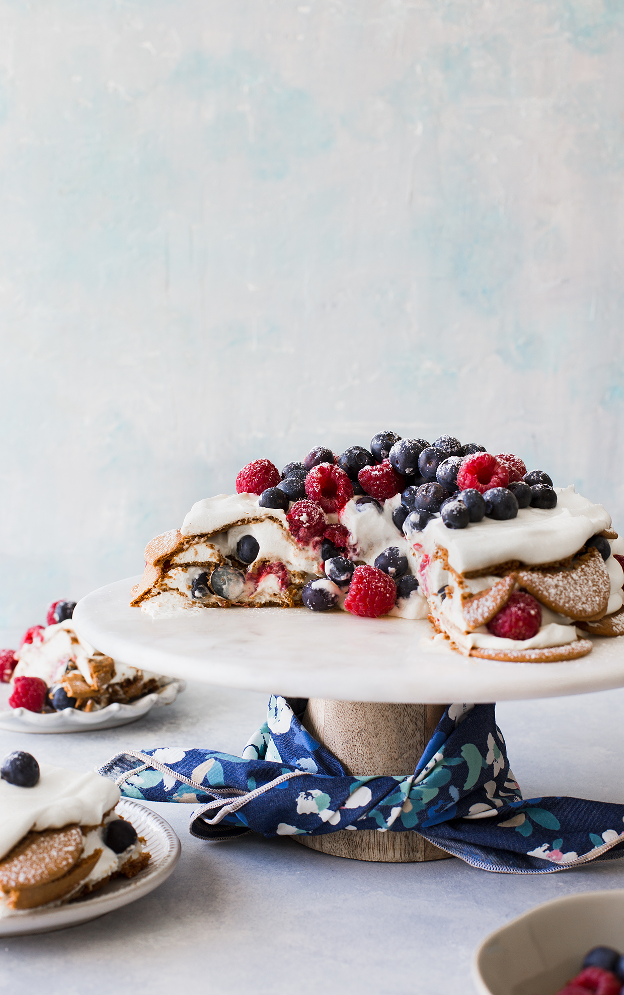 Berry and Gingersnap Icebox Cake